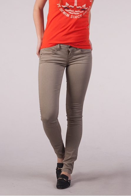 Skinny push-up Broek Lucia Taupe