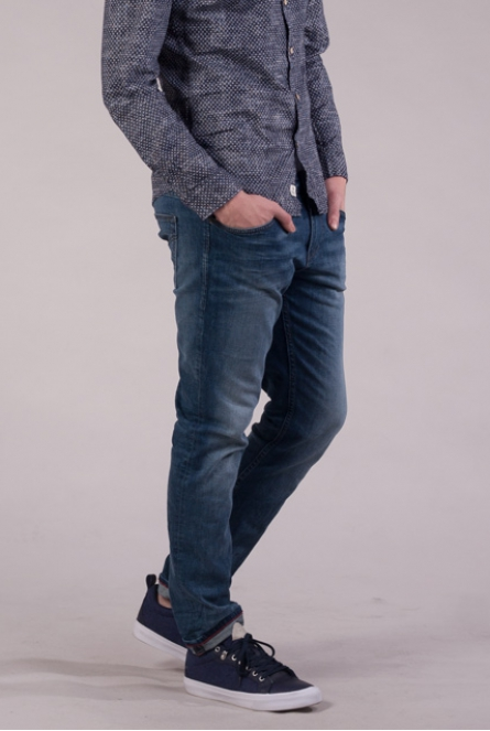 slim fit Jeans aedan mid stone wash denim