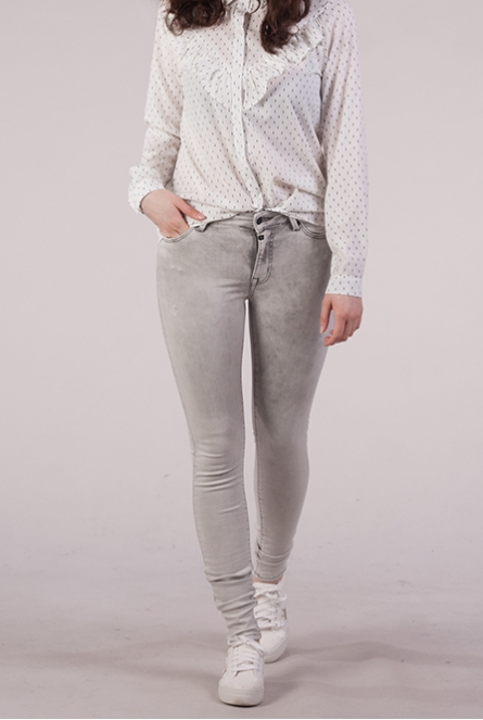 Jeans Sylvia High Waist Super Skinny Grey denim