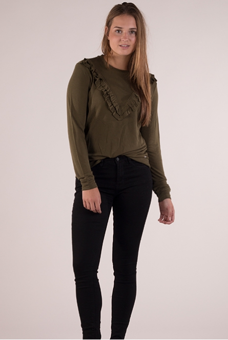Sweater golden olive green