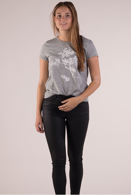 Shirt light silver grey