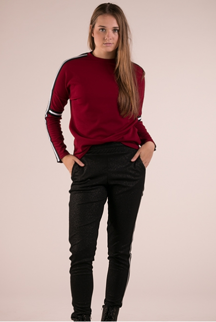 Sweater Gings Bordeaux rood