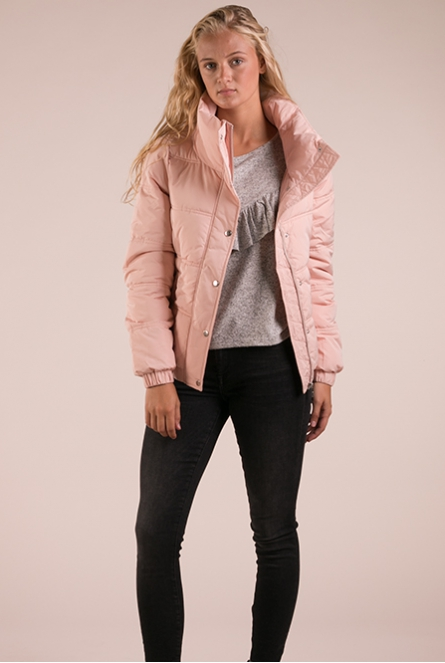 Bomber winterjas light nude rose