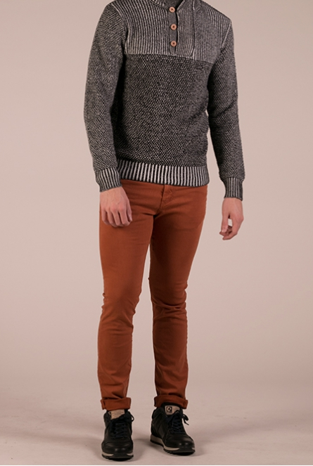 Broek burn umber orange