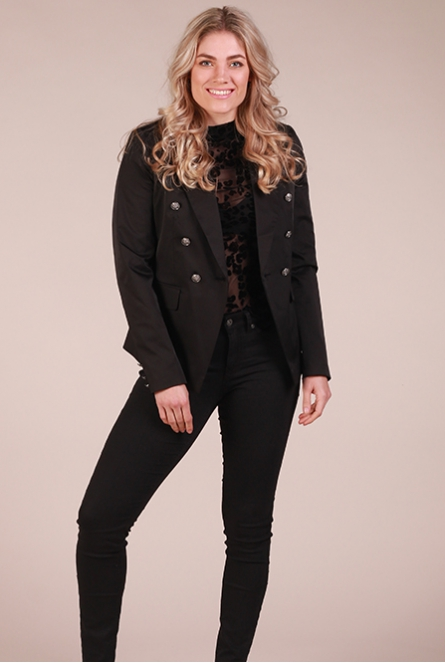 Military blazer Mindy Zwart