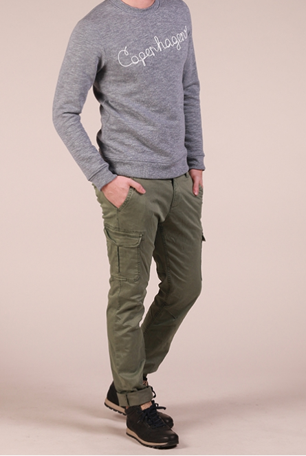 Chino Broek greyish shadow olive