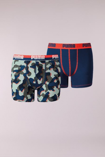 PUMA CAMO BOXER 2P 624-blue / red