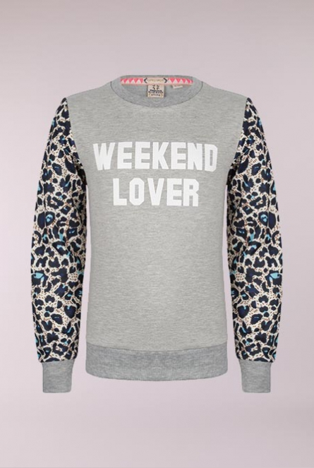 Sweater Weekend Lover Licht grijs