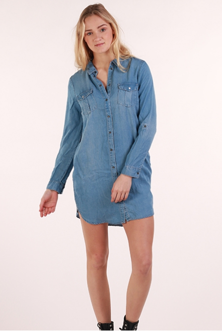 Denim jurk Silla Light Blue Denim