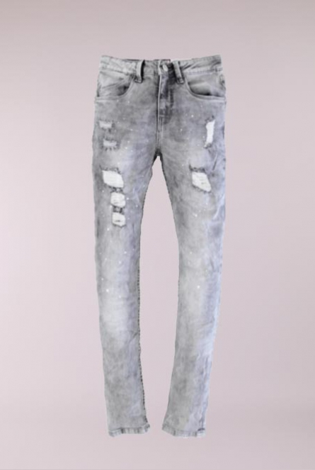 Jeans Destroy Skinny-fit Grey denim