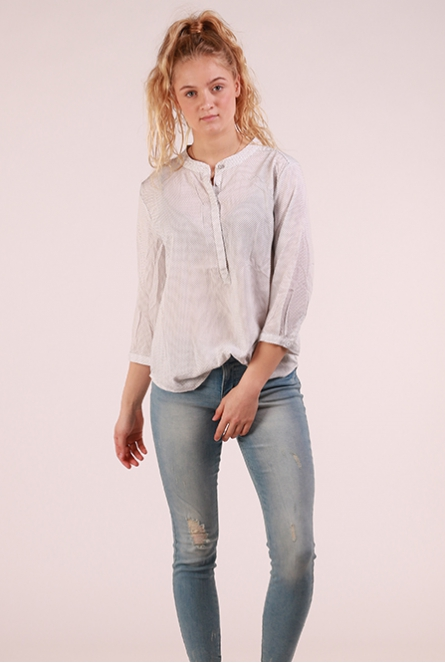 krijtstreep Blouse Adney Wit