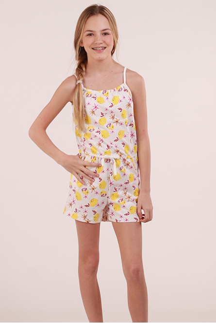 Jumpsuit Vigga Bright White/LEMONS
