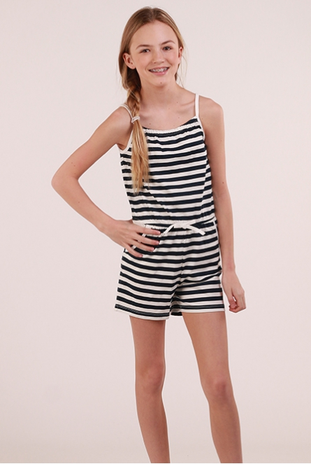 Jumpsuit Vigga Bright White/STRIPES