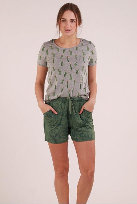 Shirt Happy Light Grey Melange/CACTUS