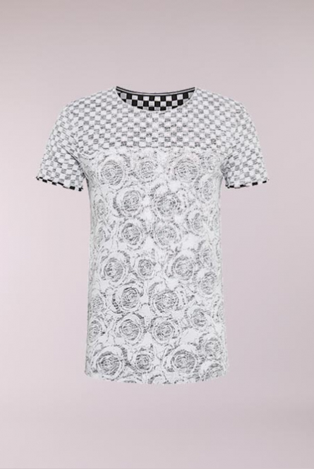 Tee with printmix Chess Check AOP