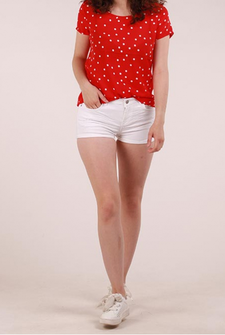 Denim Short Judie Wit