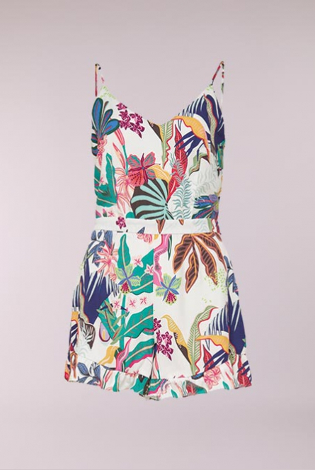 Playsuit Melbourne Bright White/TROPICAL BEACH COMB 1