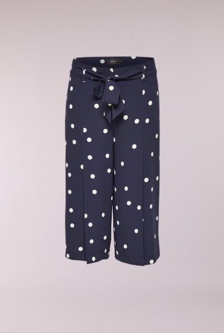 Polkadot culotte Broek Michelle Night Sky/CLOUD DANCER DOT