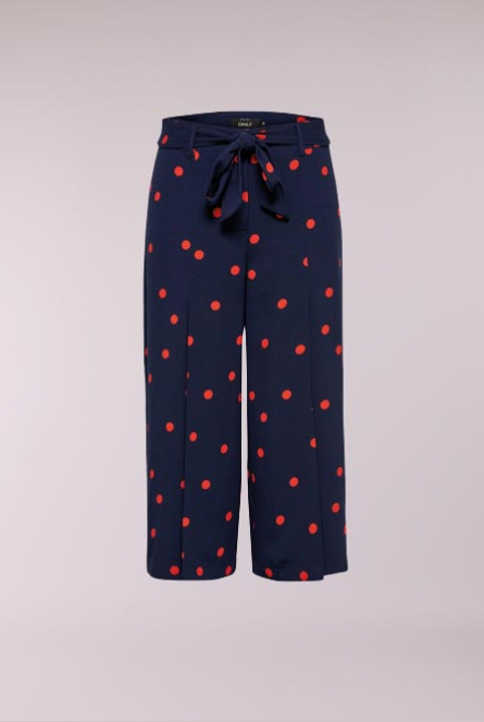 Polkadot culotte Broek Michelle Night Sky/FLAME SCARLET DOT