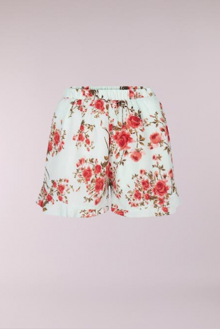 Bloemenprint Short Verna Mint