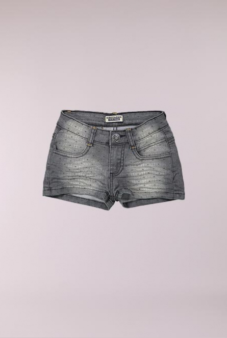 Denim short Black denim