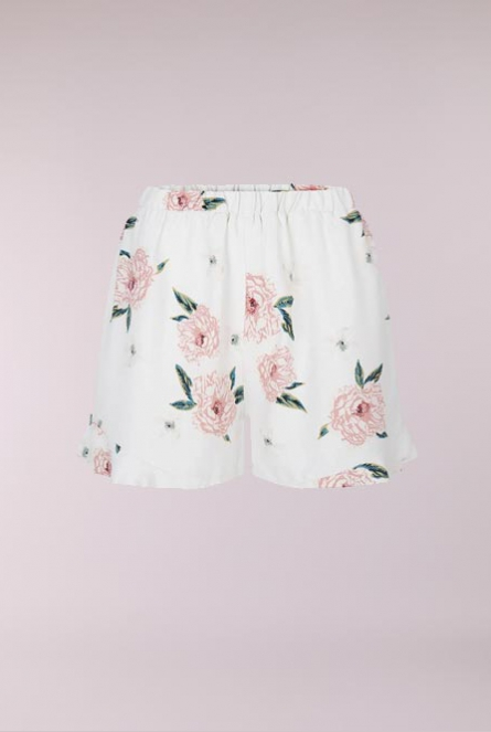 Bloemenprint Short Verna Wit