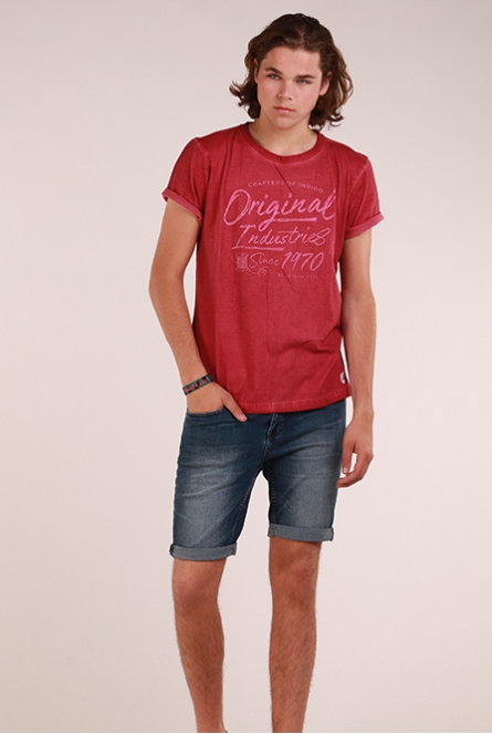 Shirt Bordeaux rood