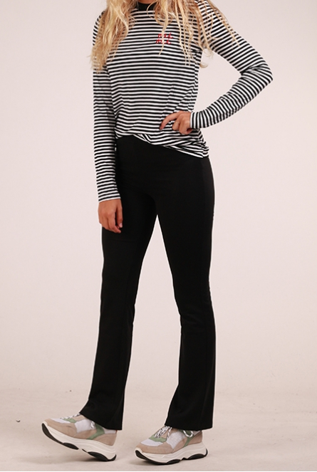 Flared Broek Selma Black/SOLID