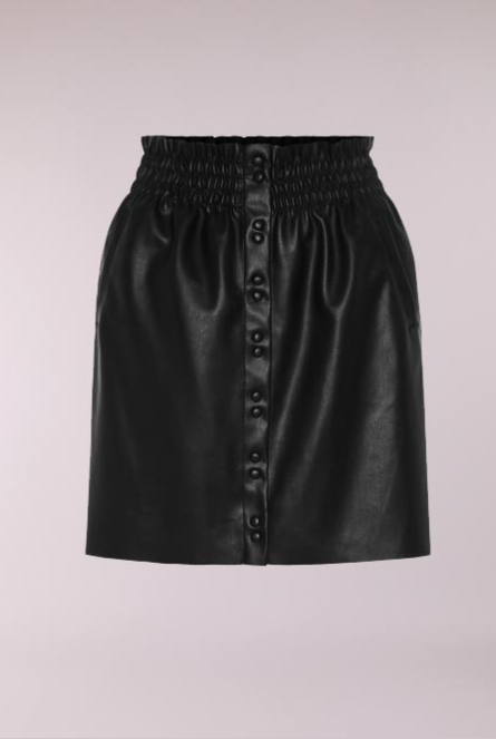 Leather look Rok Sisse Black