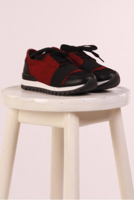 Sneakers Bordeaux rood