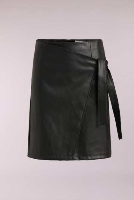 Leather look Rok Pen Black