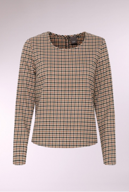 Geruite shirt Check Beige