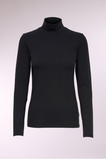 Shirt Ava met turtleneck Black