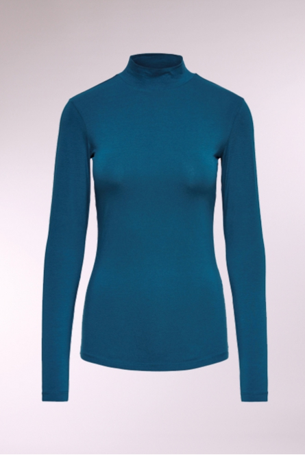 Shirt Ava met turtleneck Legion Blue