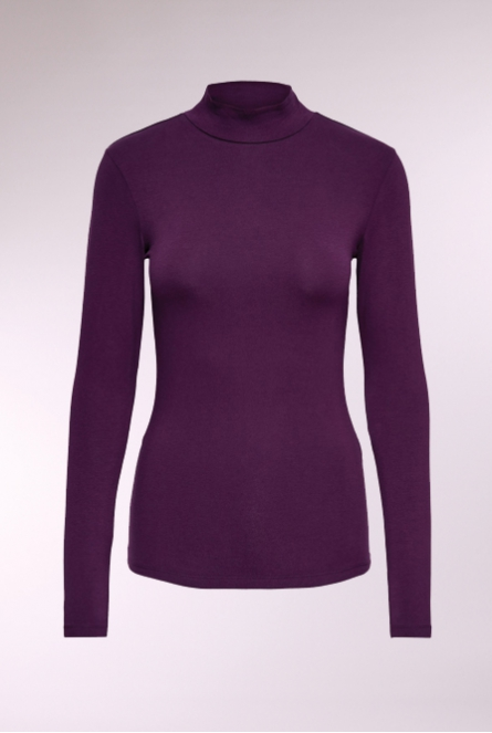 Shirt Ava met turtleneck Potent Purple