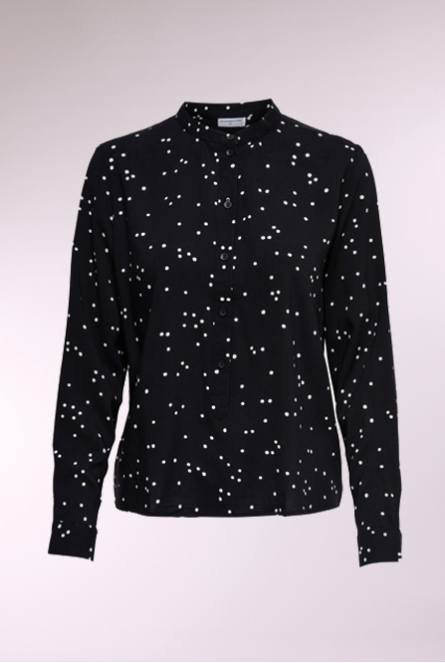 Blouse Gitte Black/WHITE DOT