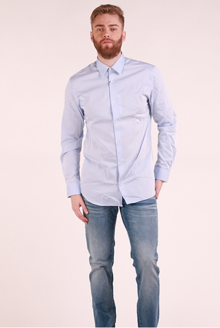 Basic overhemd Non Iron Cashmere Blue/SLIM FIT
