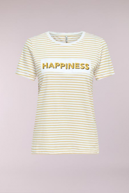 Shirt Dotti Bright White/HAPPINESS1 (MANGO MOJI