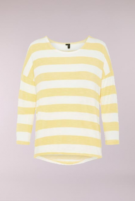 Gestreept Shirt Wide Yarrow/SNOW WHITE