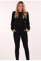 Sweater Lotte met ruches Black