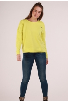 Neon Sweater Janni Limeade/JUST CHILL (NIGHT SKY)