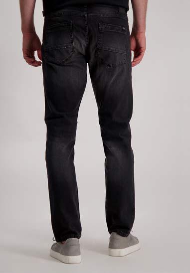 b0a2e048a6d Off-shoulder denim Jurk Janice Blauw - Wild Store