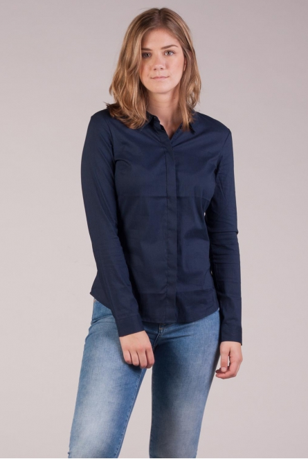 Basic Blouse Lady Blauw