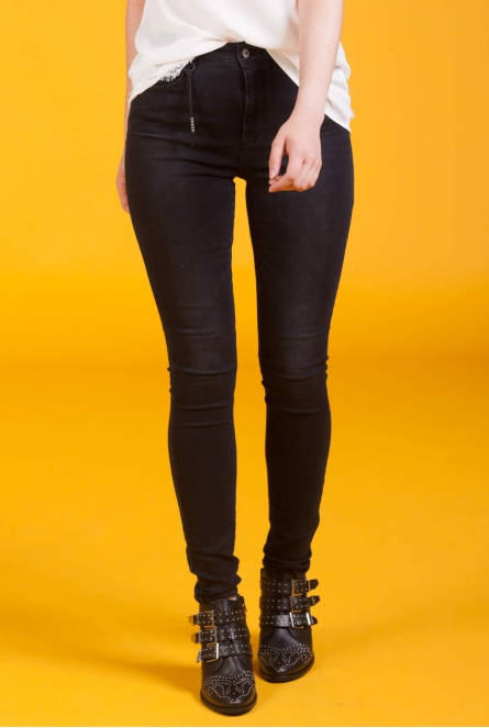 Jeans Piper High waist Zwart