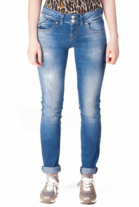 Jeans Molly high rise slimfit Blauw