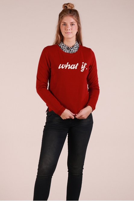 Dunne sweater Amina Rood