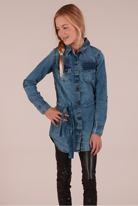 Denim Jurk Cassandra Stone used