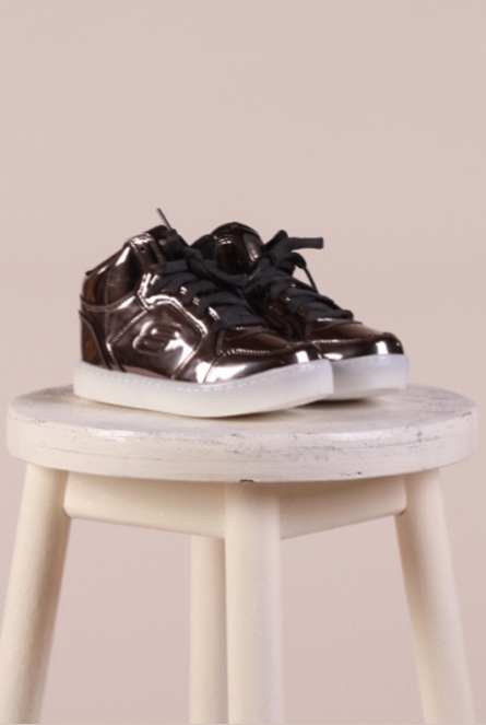metallic Sneakers Brons