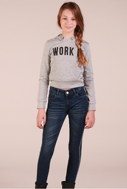 cropped sweater Karlie Grijs