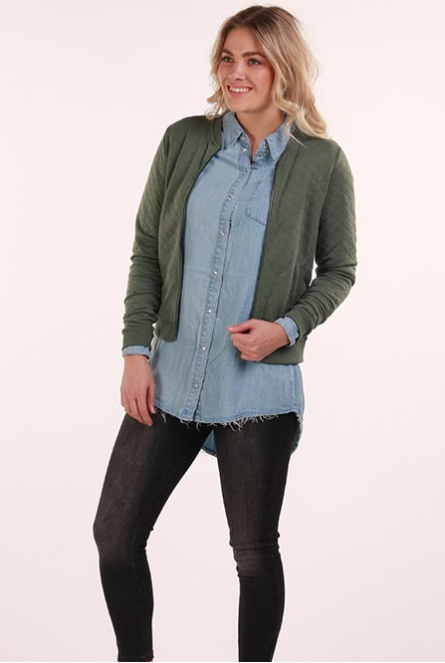 Bomber sweat Vest Joyce Laurel Wreath